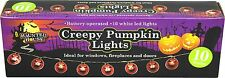 Creepy Pumpkin Led Lights - 10 Orange Pumpkin Halloween Party Decoration