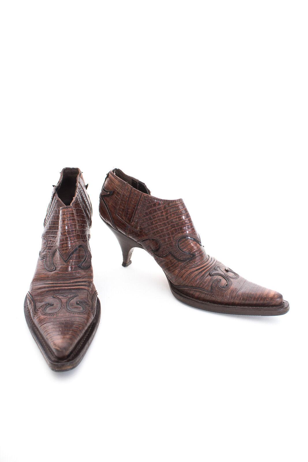 Miu Miu botines zapatos señora talla de de de 40 cuero marrón  hasta un 50% de descuento