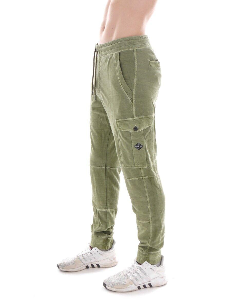 O` Neill Pantaloni felpati cargohose BASE verde CARGO ELASTICO CON COULISSE