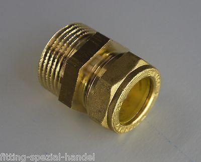 """Kupferrohr Klemmverschraubung von 15-28mm auf Außengewinde 1/2"""" bis 1"""""""
