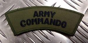 Genuine-British-Military-039-ARMY-COMMANDO-039-OD-Shoulder-Patch-Badge-Brand-NEW