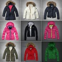 Abercrombie Kids Girl Jacket Hoodie Size S M L Xl Blue Green Pink Winter