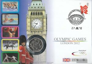 Grossbritannien-3290-auf-Numisbrief-50-Pence-Muenze-FDC-2012-Pence-Muenzbrief-Olymp