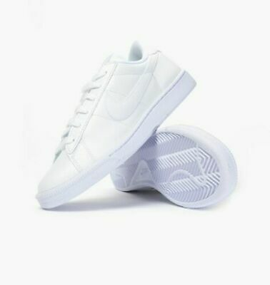 nike tennis classic women's casual shoes white blue cap