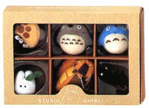 STUDIO GHIBLI TOTORO COLLECTION CHARM WITH BALL CHAIN - 6 CUTE CHARMS