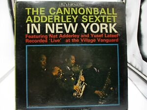 Cannonball Adderley Sextet In New York LP Riverside Mono RLP 404 VG/VG+ c VG