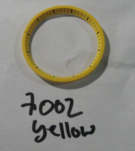 = Yellow Chapter RING //Minute Marker Ring made for SEIKO DIVER 7002 Automatic