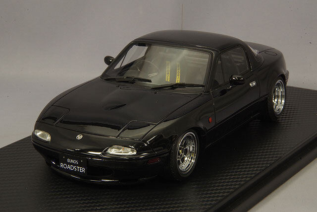 1 18 IG allumage  IG0665 Mazda MX5 EUNOS Roadster NA noir