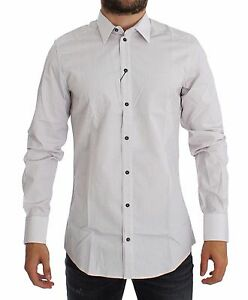 8b6fef015f NWT $380 DOLCE & GABBANA White Red GOLD Slim Fit Dress Shirt 38 ...