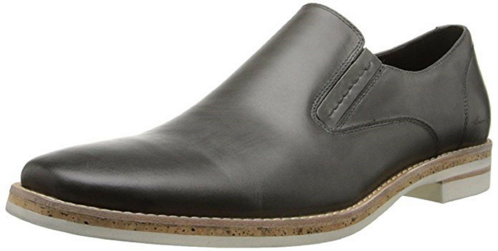 Kenneth Cole Men's Pop The Cork Slip On Loafers Grey Leather 8.5 NEW IN BOX
