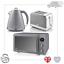 thumbnail 50 - Swan Retro 1.5L Jug Kettle 3KW, 2 Slice Toaster 815W & 20L Digital Microwave Set