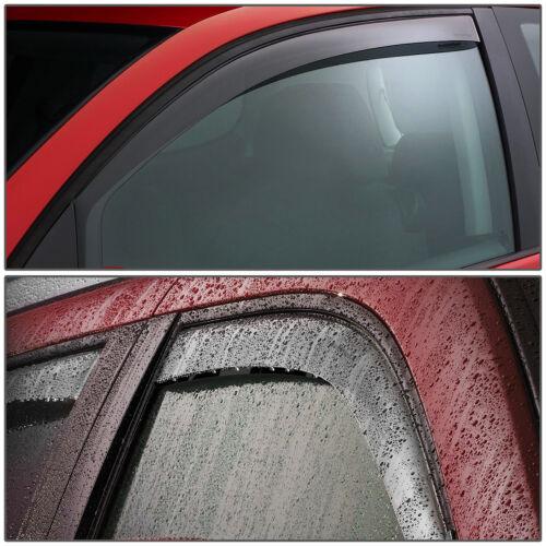 SMOKED CAR WINDOW VISOR//WIND DEFLECTOR VENT RAIN SHADE FOR 02-11 CROWN VIC LWB