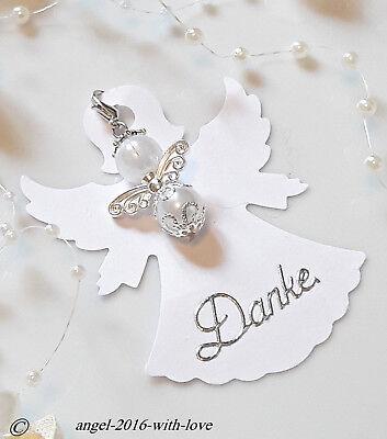 1 Gastgeschenke Karte Weis Engel Hochzeit Taufe Kommunion Danke Firmung Ebay