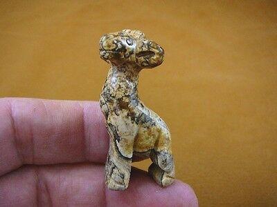 GIRAFFE black HEMATITE CARVING gem GEMSTONE stone figurine giraffes Y-GIR-503