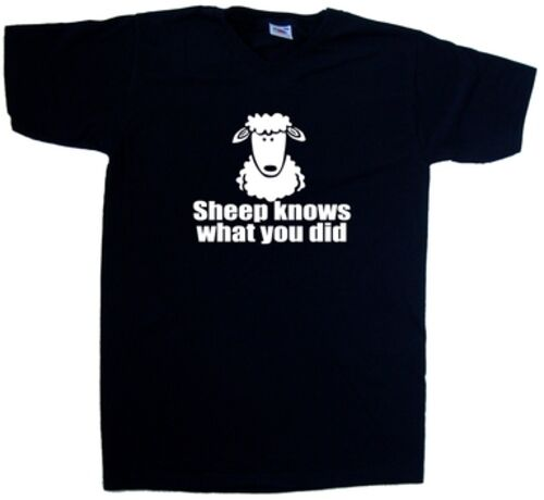 Sheep Knows What You Did Funny V-Neck T-Shirt