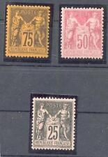 FRANKREICH 1884 Yv 97,99,104 * 745€ (24881