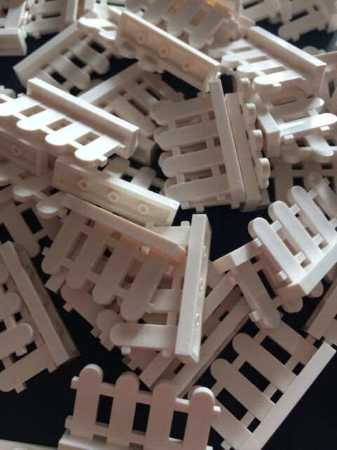 New Lego Lot Of 24 White 4x2x1 Garden Fence Bricks Friends