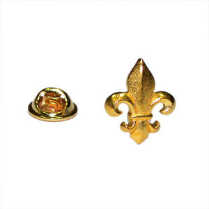 Image Is Loading Golden Fleur De Lys Lapel Pin Badge Gifts
