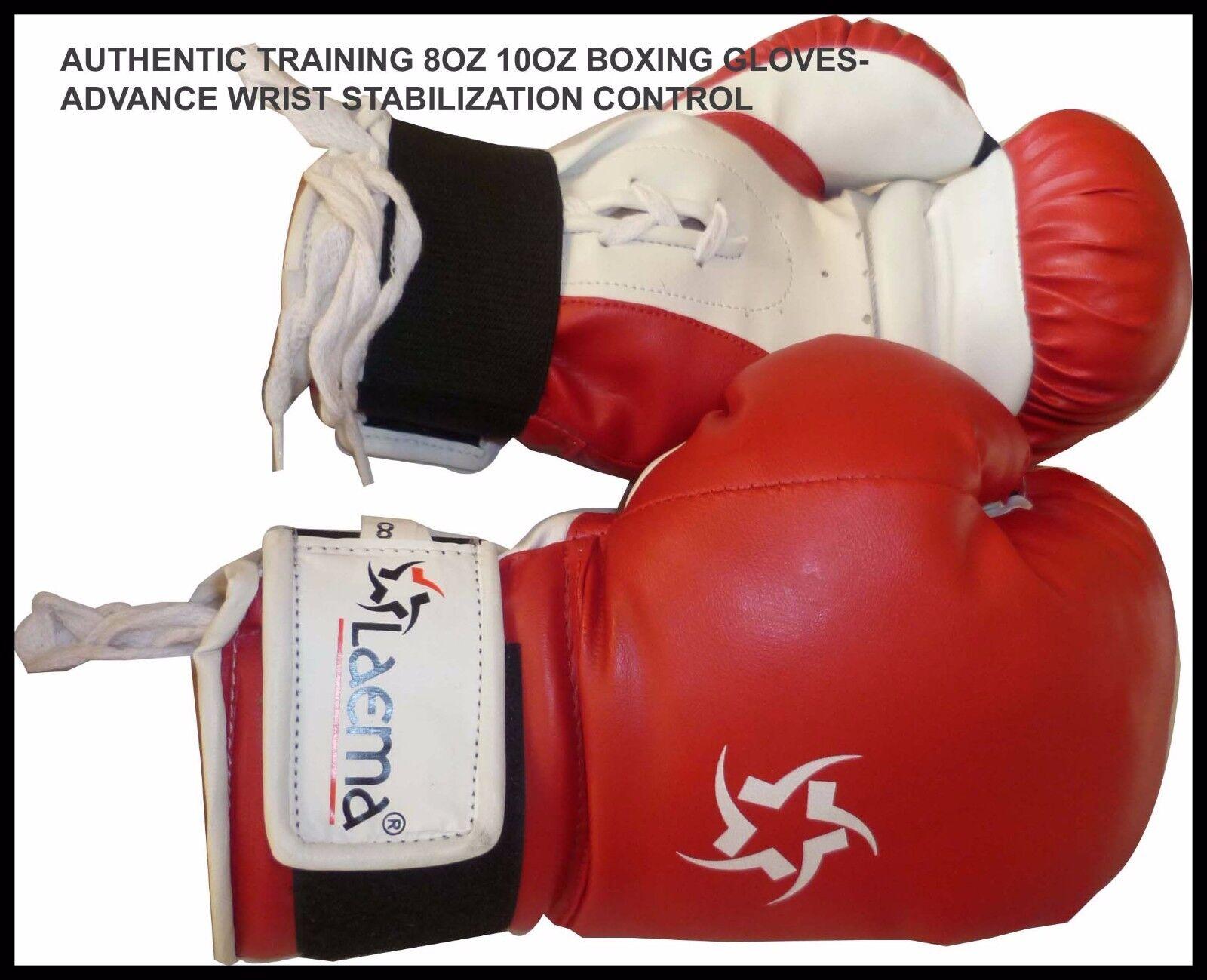5 X 08 OZ PrestaBindens bokshandschoenen Mitts Punch Kick MMA Gym UFC-CLEAANCE