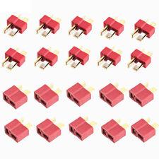 20*Mini T- Plug Male&Female Connectors Deans Style For RC ESC LiPo Battery Power