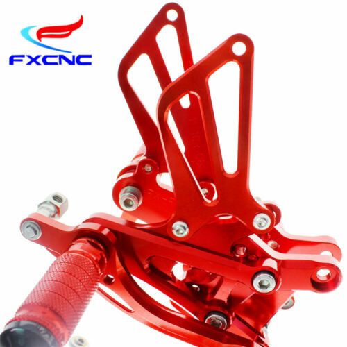 For Honda Red Rearset Footpegs Rear Set CBR600 F4I F3 F4 01-03 04 CNC Motorcycle