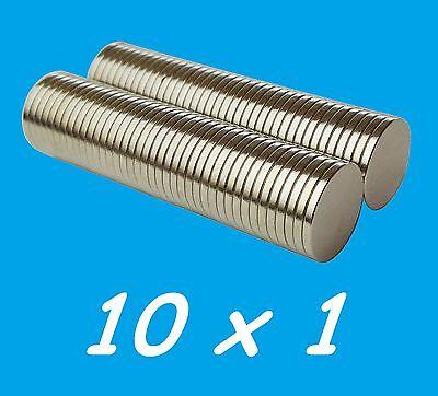 Sensibile 5 Magneti Neodimio 10x1 Mm Calamita Potente Fimo Ceramica Magnete Calamite Costruzione Robusta