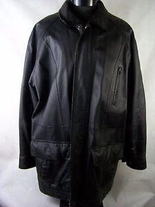 Wilsons Leather Jacket Men's Black 100% Leather Zipper Size M