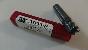 MITUS 149158 EM 1/2 5 FLutes 45d Stub Carbide Endmill Altin 1/2x1/2x5/8x2-1/2