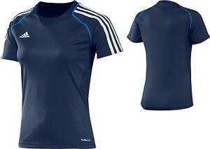 adidas-Damen-Trainingsshirt-blau-Sport-T-Shirt-Laufshirt-Fitness-Gr-32-48