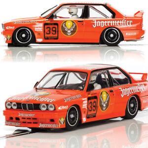 Scalextric-C3899-BMW-E30-M3-DTM-1988-Jagermeister-Slot-Car-1-32-DPR