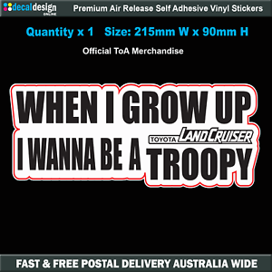 When-I-Grow-Up-I-Wanna-Be-A-Troopy-Sticker-21cm-Decal-W011