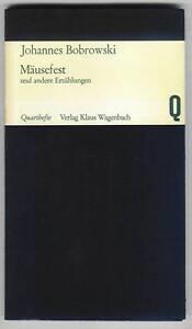 Details About Quartheft 3 Johannes Bobrowski Mäusefest 1965