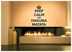 Details about Gift Wall Vinyl Sticker Decals Mural Design Hakuna Matata  Quote African #395