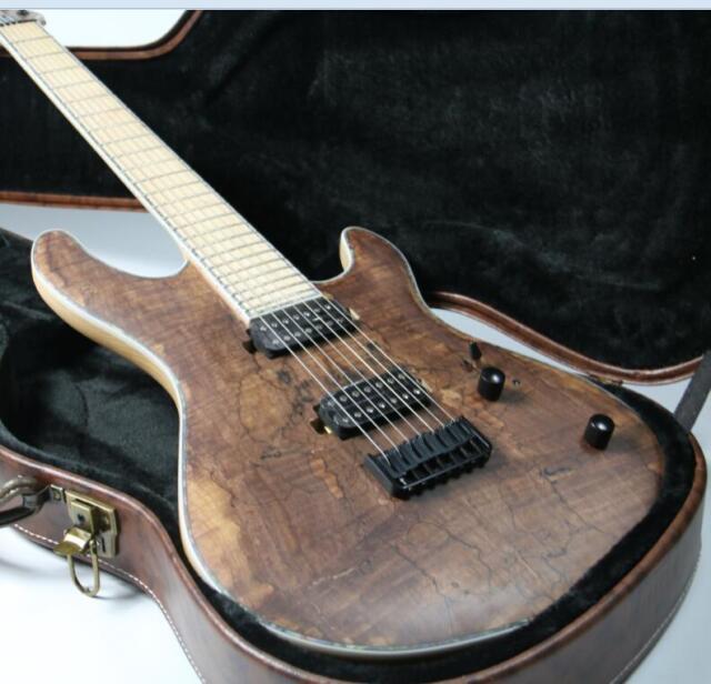 buy 2018 top quality 7 strings electric guitar fanned frets 24f burl maple top online ebay. Black Bedroom Furniture Sets. Home Design Ideas