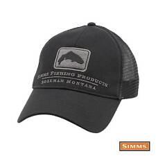 Simms Trout Trucker Hat Black OSFM