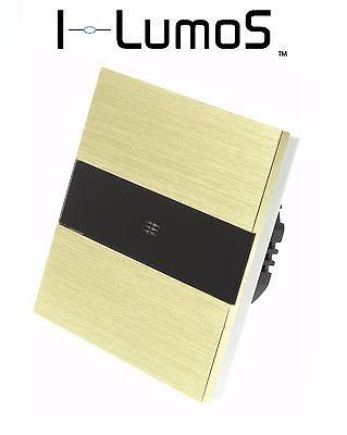 I Lumos Oro In Alluminio Spazzolato Pannello Touch Dimmer Led Luce Gli Interruttori-mostra Il Titolo Originale In Viaggio