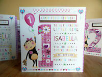 Girl age1 age2 age3 age4 birthday card-Special age card personalised baby girl