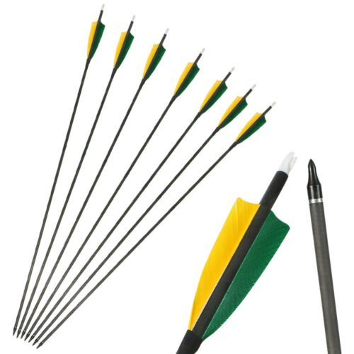 "31/'/' Carbon Arrows Spine 400 /& 4/"" Shield Turkey Feather Fletched Archery Hunting"