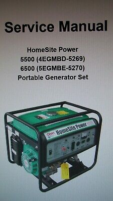 homesite power 5500 (4 egmbd - 5269) 6500 (5 egmbe - 5270) conjunto  generador portátil | ebay  ebay