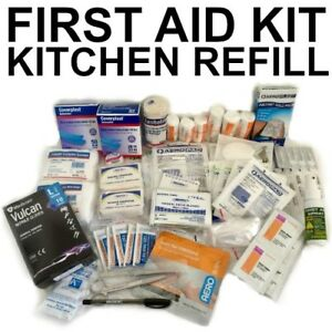 First-Aid-Kit-REFILL-CAFE-KITCHEN-Restaurant-Food-Truck-BLUE-BANDAID