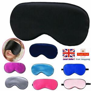 Pure Silk Filled Sleep Eye Sleeping Eye blindfold Black Eyeshades Trip UK