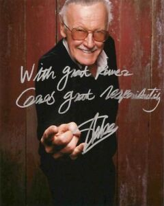 Stan Lee Signed 8x10 Autographed Photo Reprint Spider Man Marvel Comics