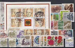 BRD-Jahrgang-1982-gestempelt-mit-Block-18-und-Blockeinzelmarken