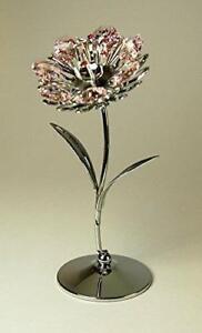 Crystocraft-Pink-Sunflower-Figurine-Ornament-Swarovski-Crystals-Gift-Present