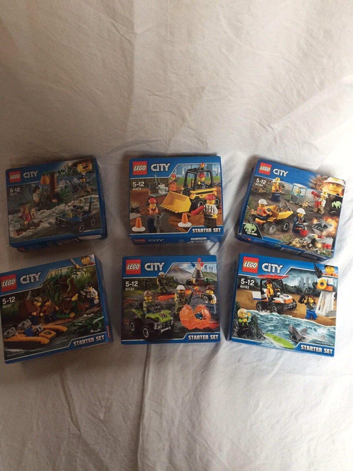 Lego Lot City Figurine Starter Set 6 Boîte Neuves