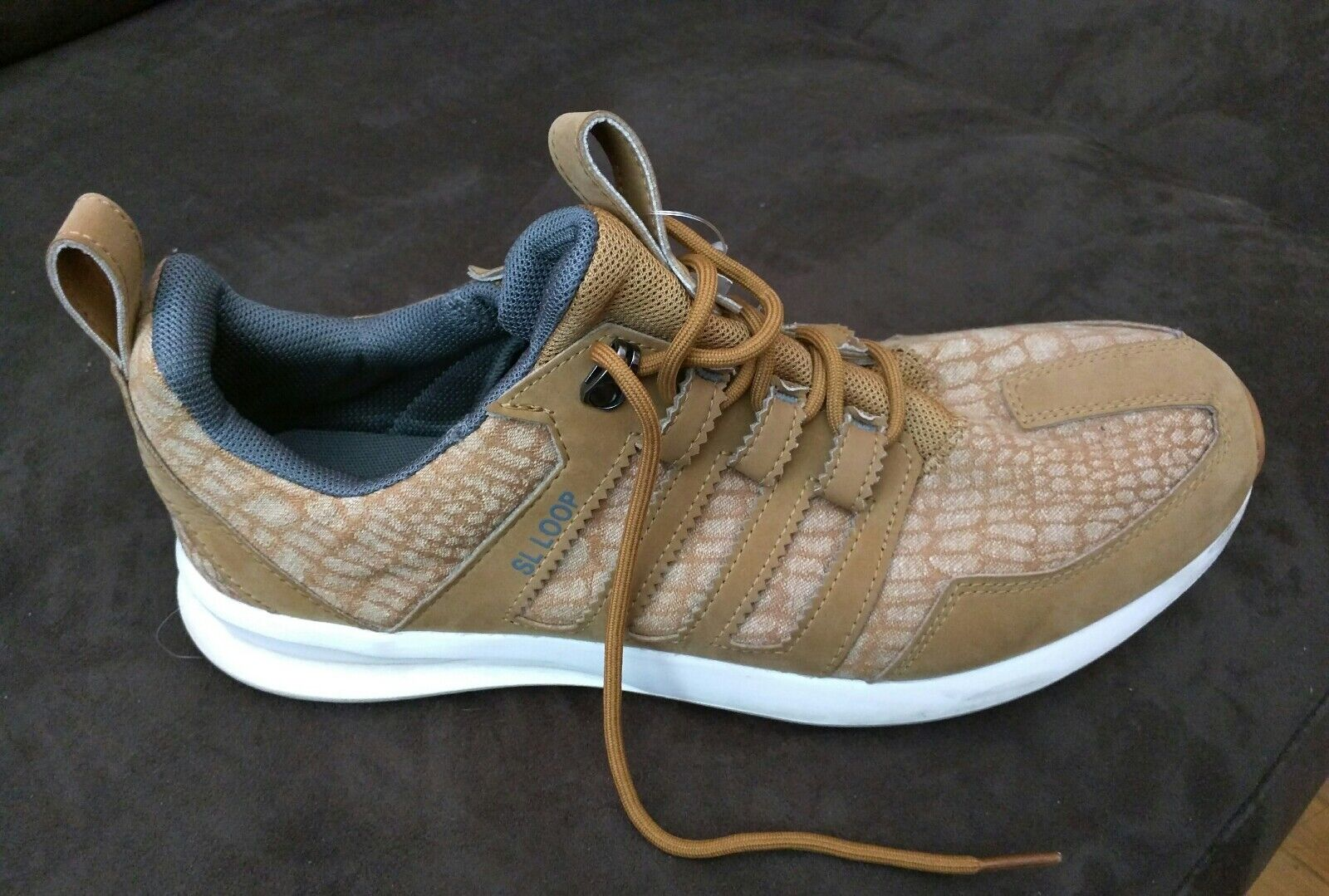 3f60d17c1 RARE adidas TAN LEATHER SHOES US 11 Sneakers Trainers LOOP SL ...