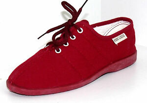 CHAUSSONS BASKETS DETENTE 36 A LACETS toile rouge BAYONA PARE femme GABIA NEUF