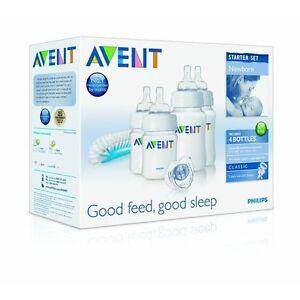 Philips-Avent-Newborn-Baby-Bottle-Kit-Bottles-Brush-Soother-Starter-Set