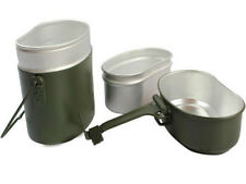Army Military Soldier Set Mess Kit Food Canteen Kettle Bowl Pot Cup Lunch Box
