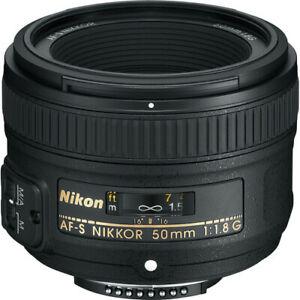 NEW Nikon 50mm f/1.8G AF-S NIKKOR Lens for Nikon DSLR Cameras
